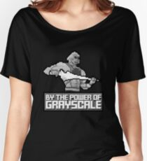 By the Power of Grayscale Women's Relaxed Fit T-Shirt