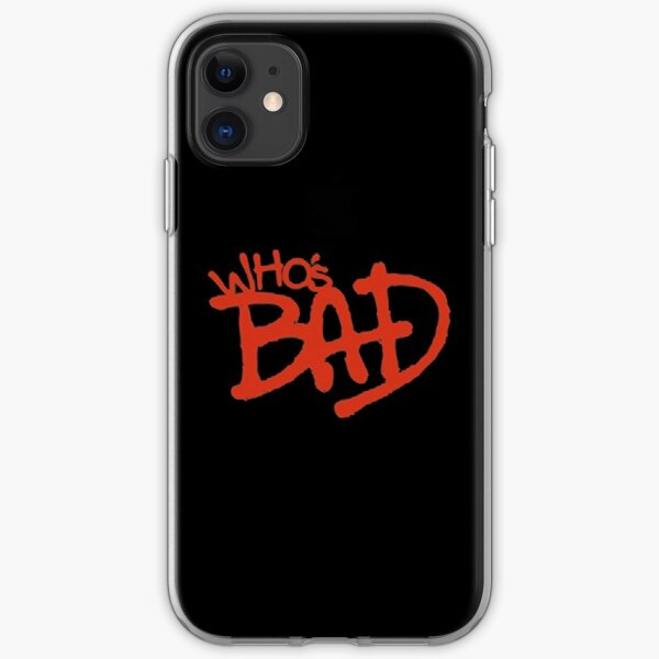 """Who's Bad"" Red on Black Design iPhone Soft Case"