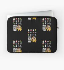 """""""They're All Out To Get You!"""" Mario Characters Design Laptop Sleeve"""