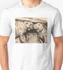 Manatee kiss Unisex T-Shirt