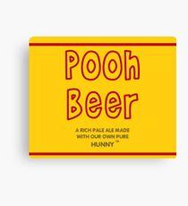 Pooh Beer Canvas Print