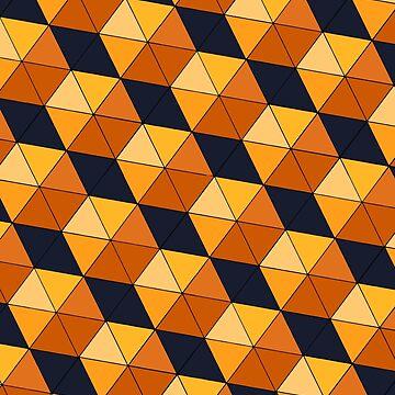 Geometric cubes orange by Tateisawimp