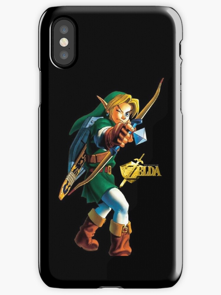 Zelda with Bow Black iPhone Case by TalkThatTalk