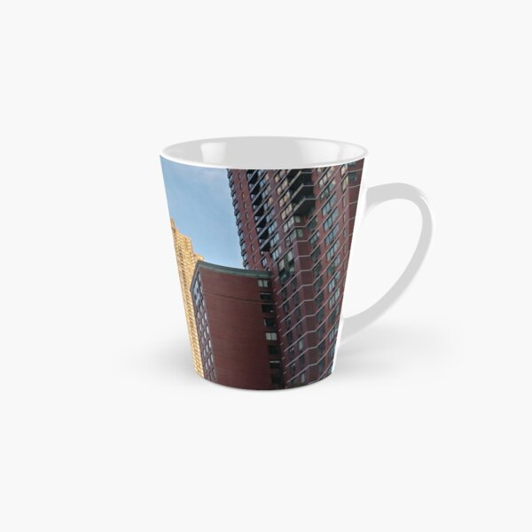 #Chambers, #Happiness, #Building, #Skyscraper, #NewYork, #Manhattan, #Street, #Pedestrians, #Cars, #Towers, #morning, #trees, #subway, #station, #Spring, #flowers, #Brooklyn  Tall Mug