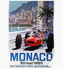 Rennplakat, T-Shirt, Gran Prix de Monaco, 1965, Vintages Plakat Poster