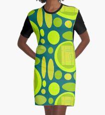 Ediemagic Lime & Teal 2 Graphic T-Shirt Dress