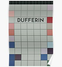 DUFFERIN Subway Station Poster