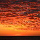Orange Sunset over Lake Superior by Karen K Smith