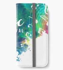 Abstract-colorful-grunge-style-musical-background iPhone Wallet/Case/Skin