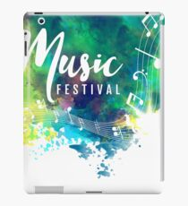 Abstract-colorful-grunge-style-musical-background iPad Case/Skin
