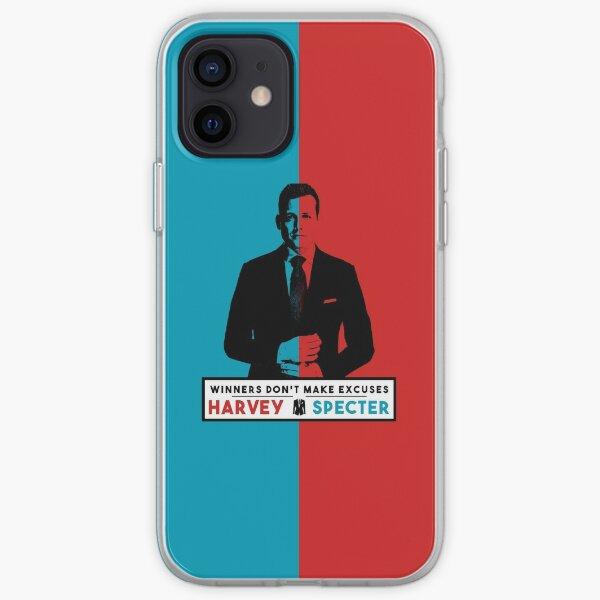 Les gagnants ne font pas d'excuses - Harvey Specter Quotes - Costumes Coque souple iPhone
