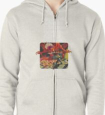 Dungeons & Diners & Dragons & Drive-Ins & Dives: Slightly Larger Image Zipped Hoodie