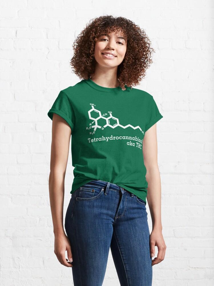 Alternate view of Tetrahydrocannabinol aka THC Classic T-Shirt