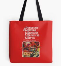 Dungeons & Diners & Dragons & Drive-Ins & Dives: Slightly Larger Image Tote Bag