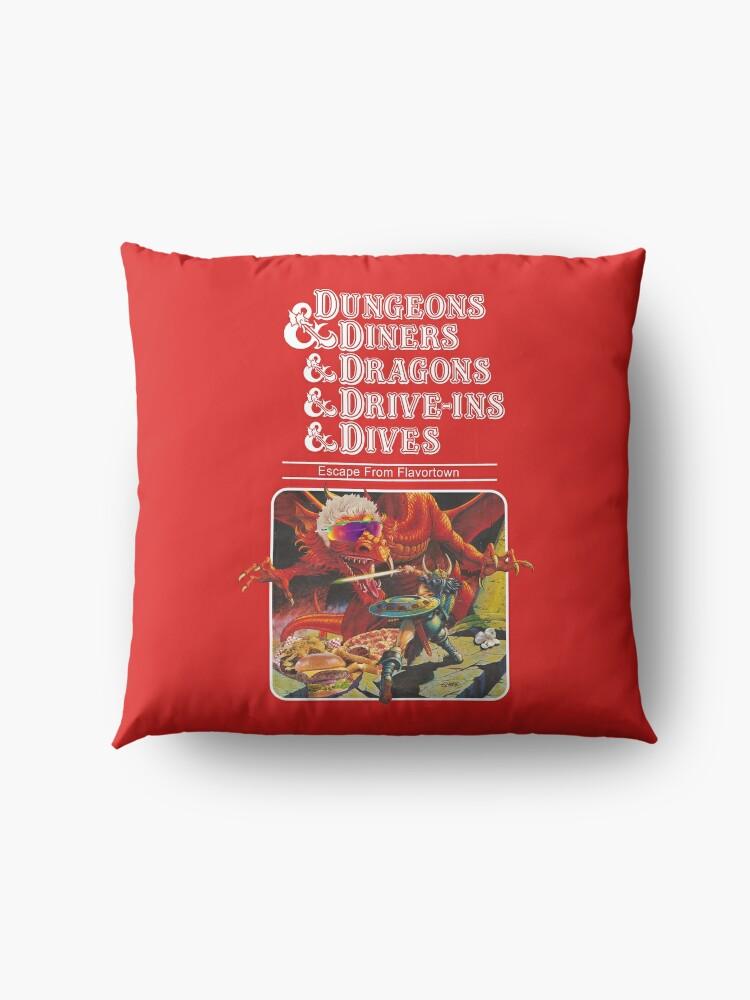 Alternative Ansicht von Dungeons & Diners & Dragons & Drive-Ins & Dives: Etwas größeres Bild Bodenkissen