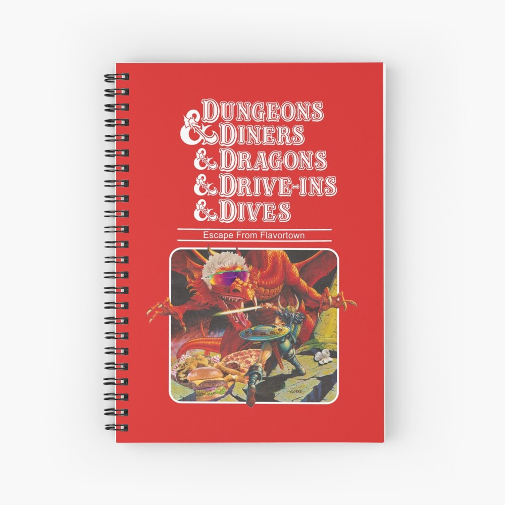 Dungeons & Diners & Dragons & Drive-Ins & Dives: Slightly Larger Image Spiral Notebook