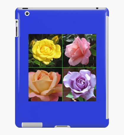 Rosen-Collage im gespiegelten Rahmen iPad-Hülle & Klebefolie