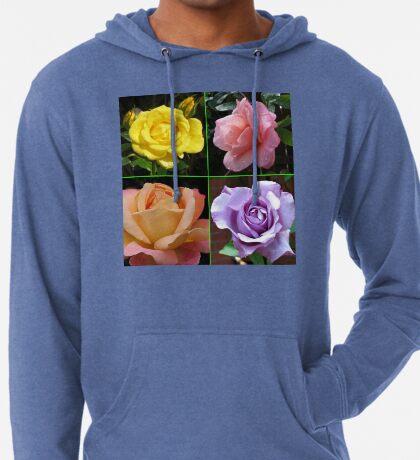 Rosen-Collage im gespiegelten Rahmen Leichter Hoodie