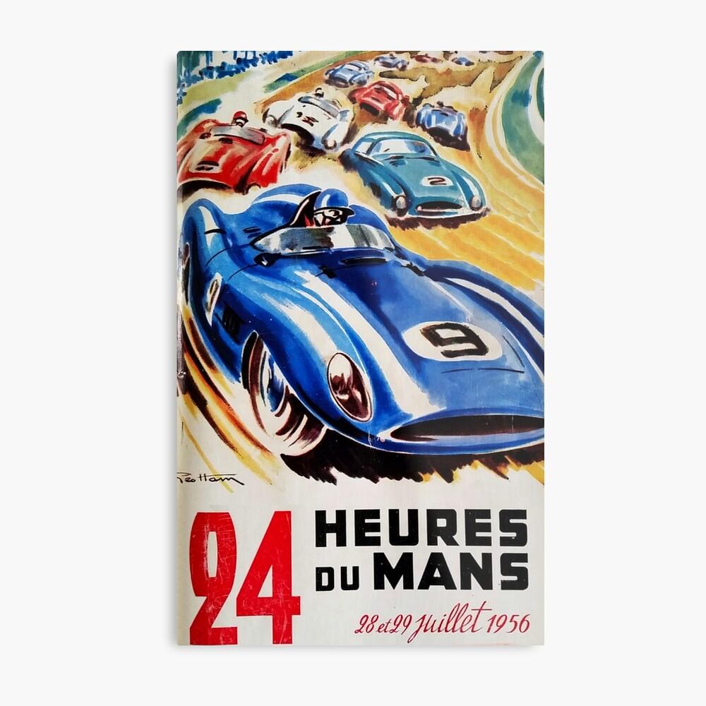 Le Mans Poster, Le Mans T-Shirt, 1956, Vintage Poster, Le Mans Aufkleber Metallbild