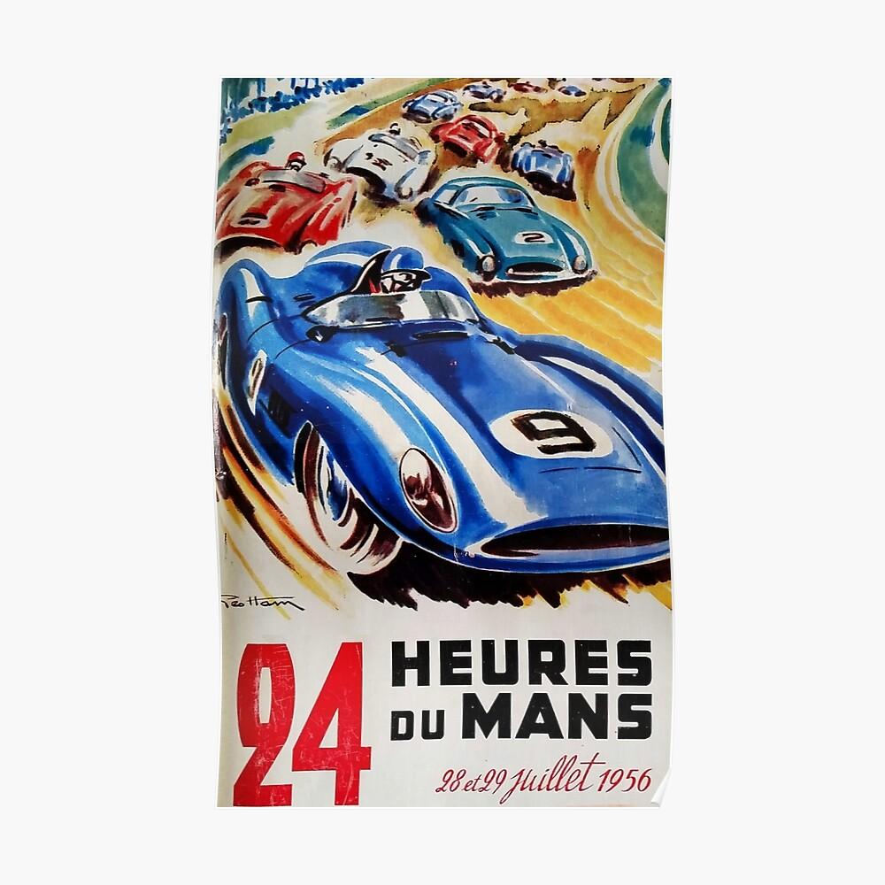Le Mans Poster, Le Mans T-Shirt, 1956, Vintage Poster, Le Mans Aufkleber Poster