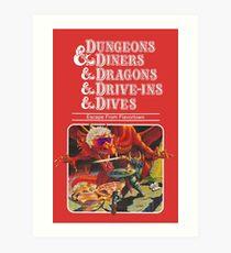 Lámina artística Dungeons & Diners & Dragons & Drive-Ins & Dives: Imagen ligeramente más grande