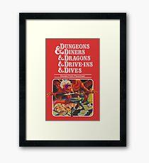 Dungeons & Diners & Dragons & Drive-Ins & Dives: Etwas größeres Bild Gerahmtes Wandbild