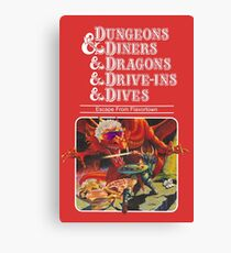 Dungeons & Diners & Dragons & Drive-Ins & Dives: Slightly Larger Image Canvas Print