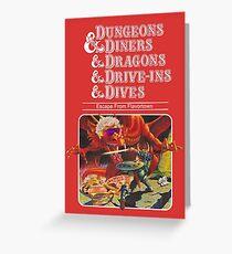 Tarjeta de felicitación Dungeons & Diners & Dragons & Drive-Ins & Dives: Imagen ligeramente más grande