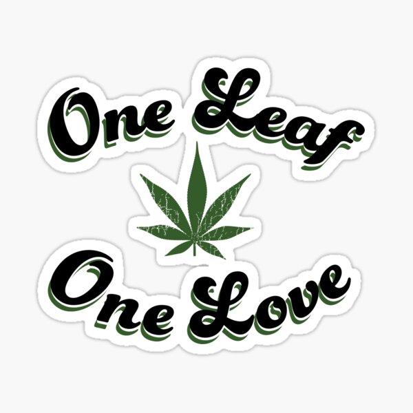 One Leaf One Love Sticker