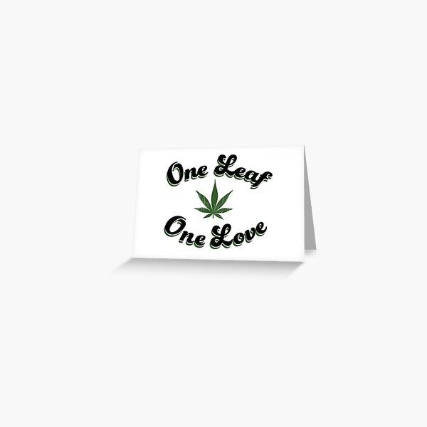One Leaf One Love Greeting Card