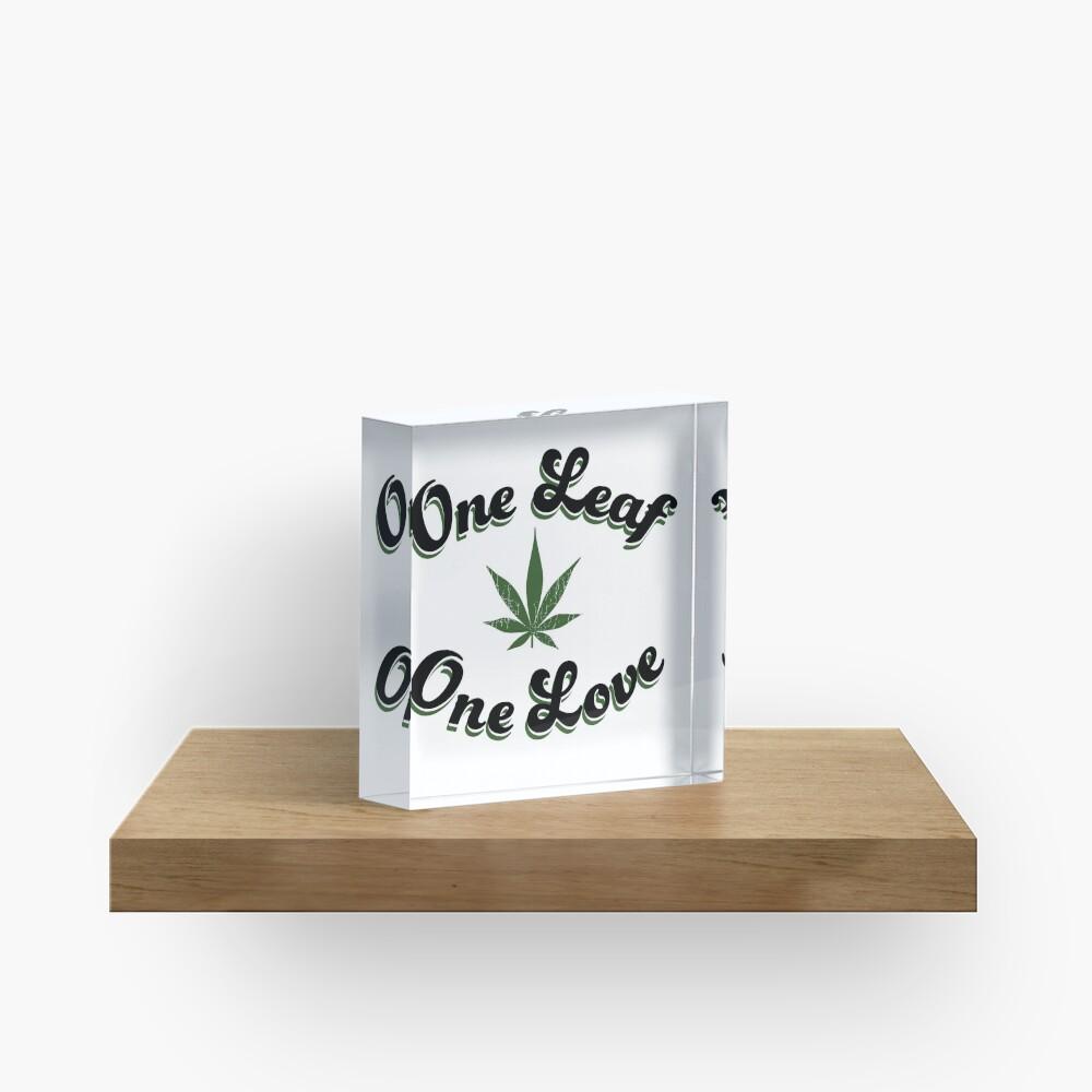 One Leaf One Love Acrylic Block
