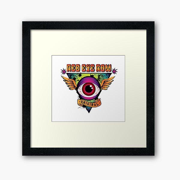 Red Eye Row Framed Art Print