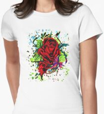 Rose Womens Fitted T-Shirt