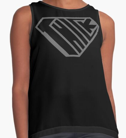 Thick SuperEmpowered (Black on Black) Contrast Tank