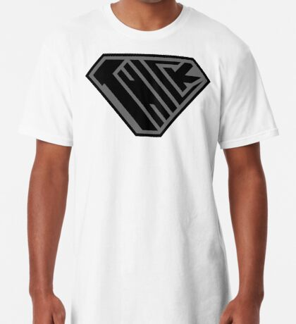 Thick SuperEmpowered (Black on Black) Long T-Shirt