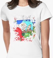 Guinea Pigs in a cage Womens Fitted T-Shirt