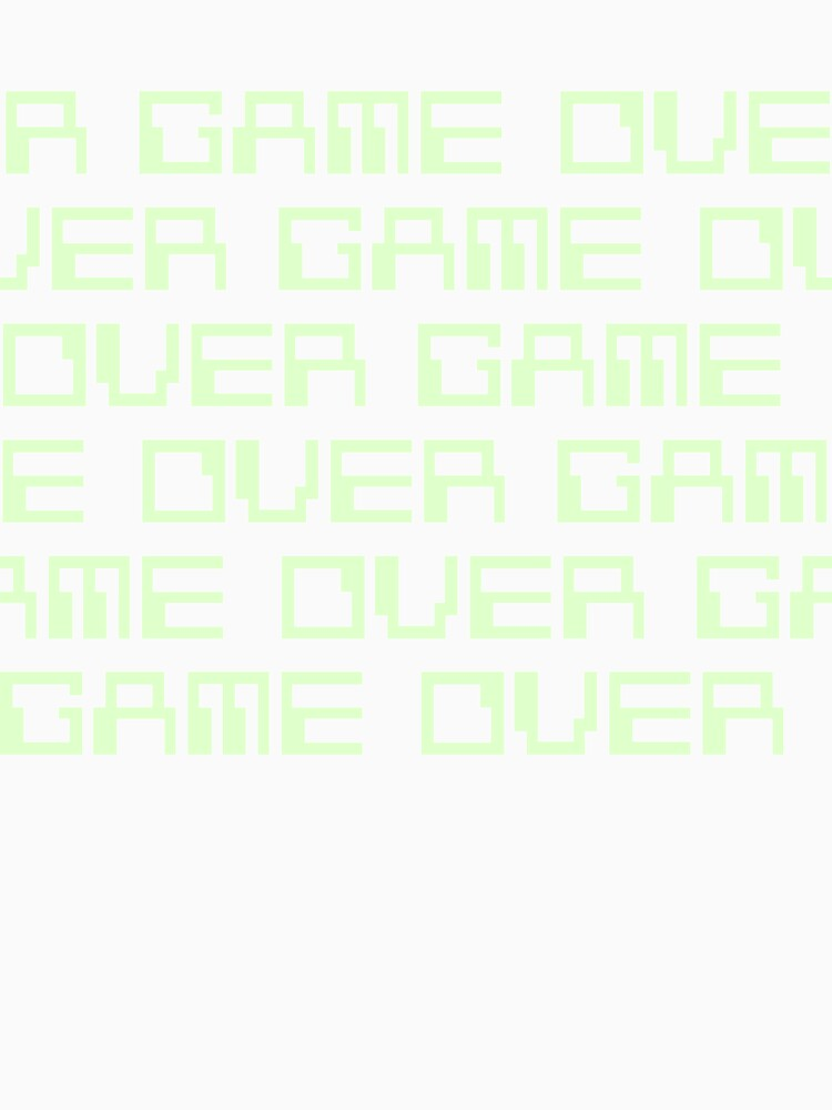 GAME OVER (green) by Etakeh