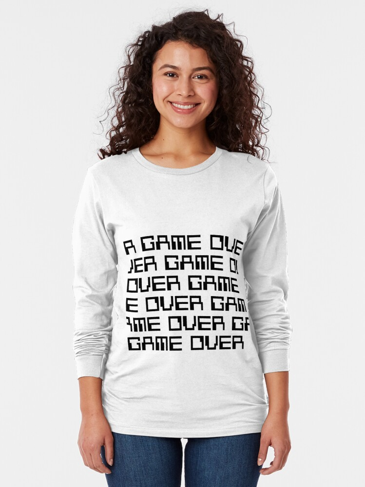 Alternate view of GAME OVER (black) Long Sleeve T-Shirt