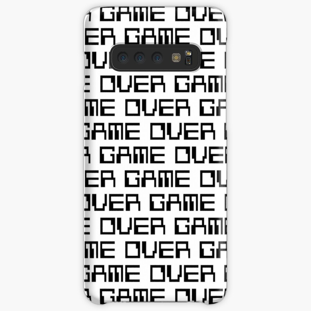 GAME OVER (black) Case & Skin for Samsung Galaxy