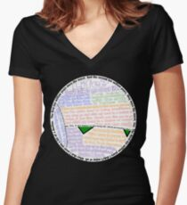 Hitchhiker's Guide Marvin Quotes Women's Fitted V-Neck T-Shirt