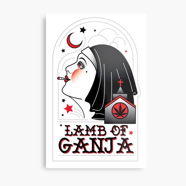 Lamb of Ganja Metal Print