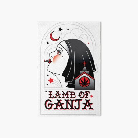 Lamb of Ganja Art Board Print