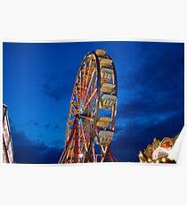 A Different Angle barkeypf carnaval lights ferris wheel Poster