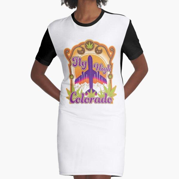 Fly High Colorado Graphic T-Shirt Dress