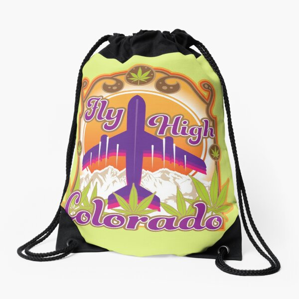 Fly High Colorado Drawstring Bag