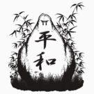 Peace Kanji Stone 1 by kanjitee