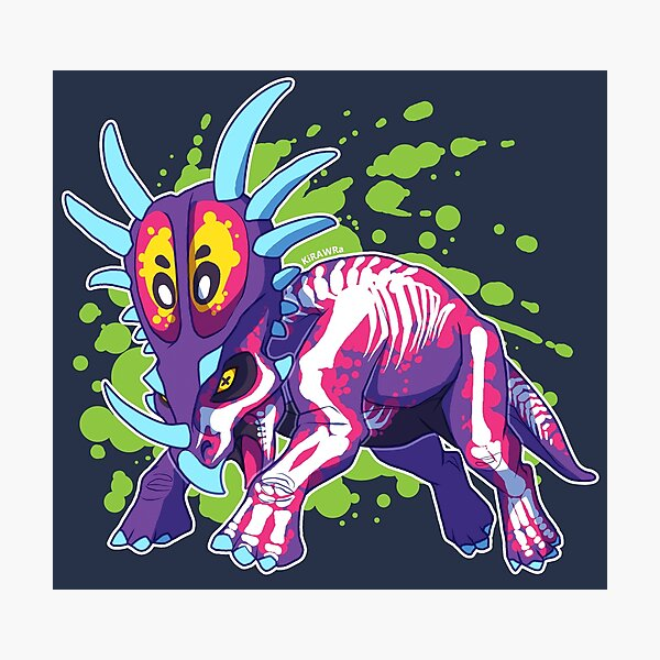 Radioactive Styracosaurus Photographic Print