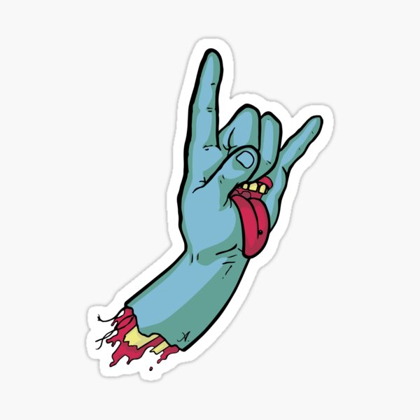 Rock On Metal Hand 2018 Sticker