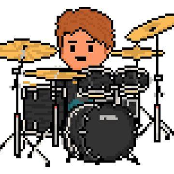 Rock Battle Amazing Double Duty Pixel Drummer by gkillerb