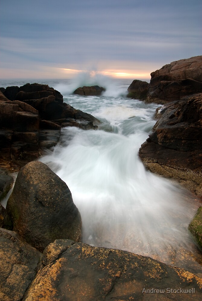 Wave Breaking at Hazard Rocks by Andrew Stockwell